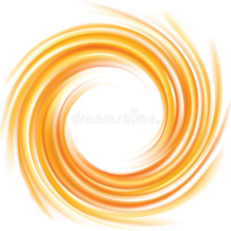 αφηρημένο διάνυσμα ανασκόπ& Πλαίσιο της ρευστής επιφάνειας μπουκλών απεικόνιση αποθεμάτων