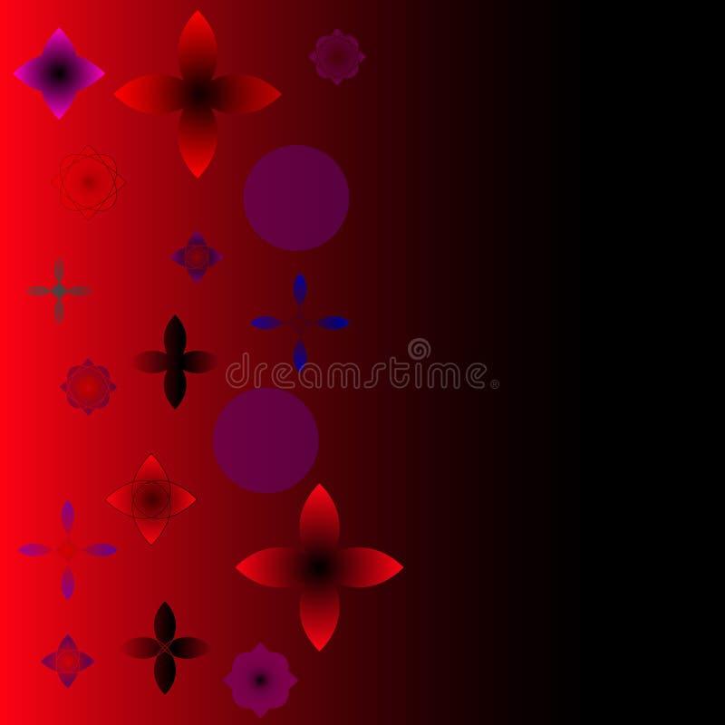 αφηρημένο διάνυσμα ανασκ&omicr Κόκκινος ελεύθερη απεικόνιση δικαιώματος