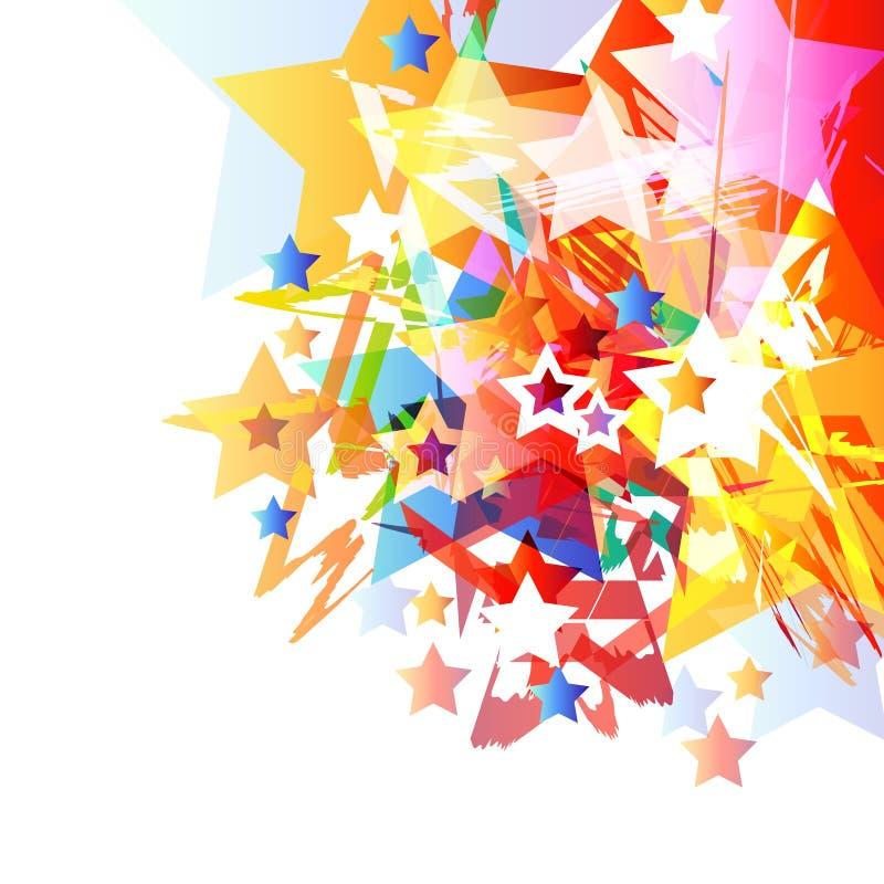 αφηρημένο διάνυσμα αστερ&iota απεικόνιση αποθεμάτων