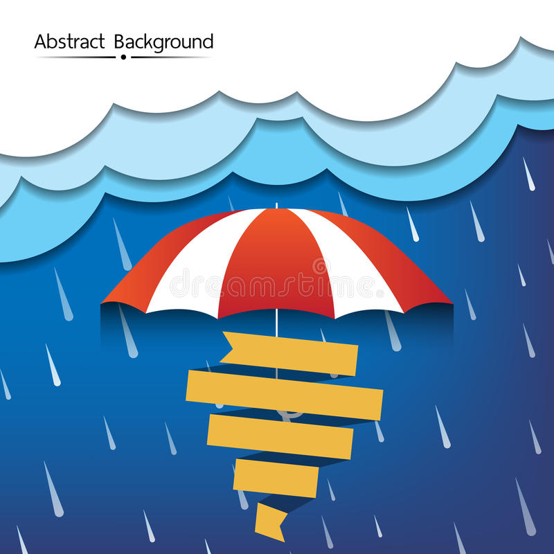 Αφηρημένο διάνυσμα υποβάθρου περιόδου βροχών διανυσματική απεικόνιση