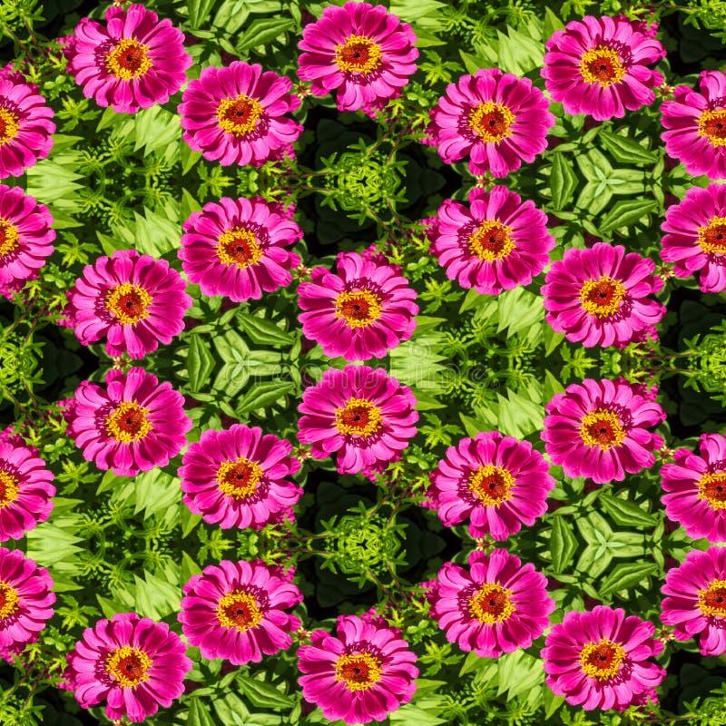 Αφηρημένο διακοσμητικό υπόβαθρο λουλουδιών ζωηρόχρωμο πρότυπο άνευ ρα& στοκ εικόνες