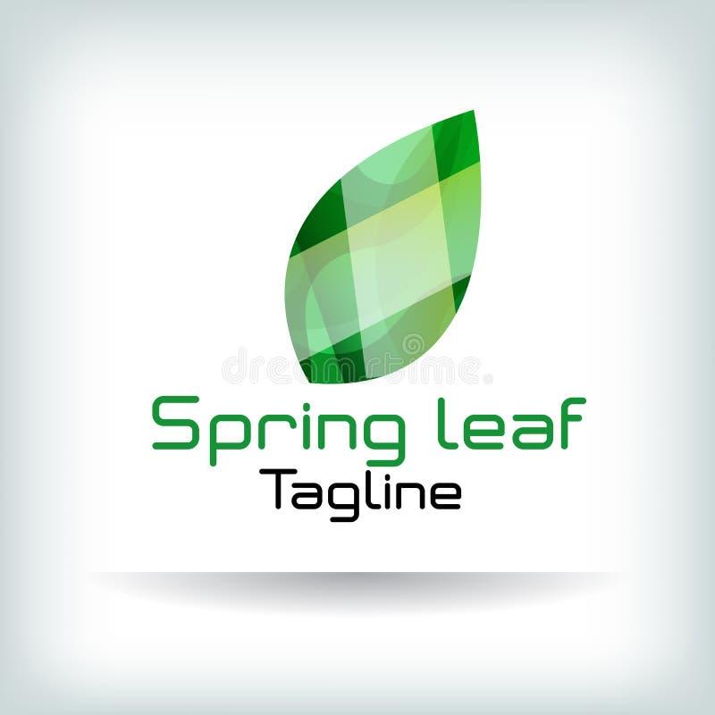 Αφηρημένο διαμορφωμένο φύλλο εικονίδιο Logotype για την επιχείρηση επίσης corel σύρετε το διάνυσμα απεικόνισης ελεύθερη απεικόνιση δικαιώματος