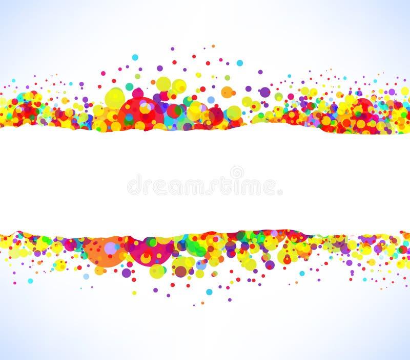 Αφηρημένο διανυσματικό ζωηρόχρωμο υπόβαθρο εμβλημάτων διανυσματική απεικόνιση