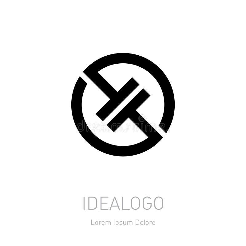 Αφηρημένο διανυσματικό πρότυπο σχεδίου λογότυπων Απεικόνιση υψηλής τεχνολογίας διανυσματική απεικόνιση