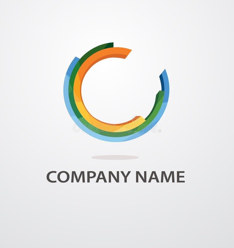 Αφηρημένο διανυσματικό σχέδιο λογότυπων χρώματος κύκλων ελεύθερη απεικόνιση δικαιώματος