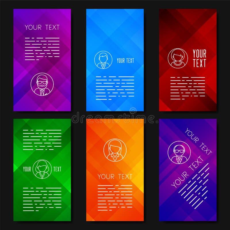 Αφηρημένο διανυσματικό σχέδιο προτύπων με τα ζωηρόχρωμα γεωμετρικά υπόβαθρα διανυσματική απεικόνιση