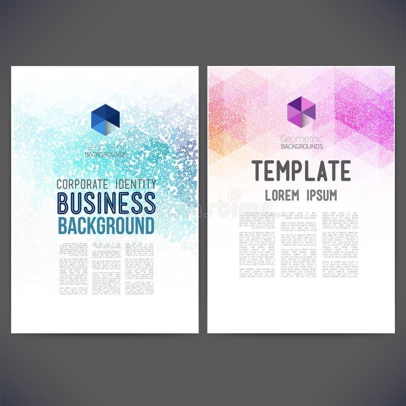 Αφηρημένο διανυσματικό σχέδιο προτύπων, φυλλάδιο, ιστοχώροι, σελίδα απεικόνιση αποθεμάτων