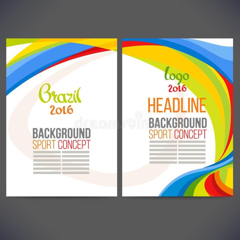 Αφηρημένο διανυσματικό σχέδιο προτύπων, φυλλάδιο ελεύθερη απεικόνιση δικαιώματος