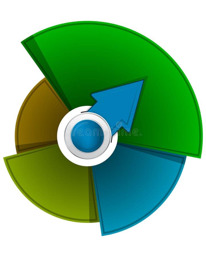Αφηρημένο διανυσματικό υπόβαθρο κύκλων ελεύθερη απεικόνιση δικαιώματος