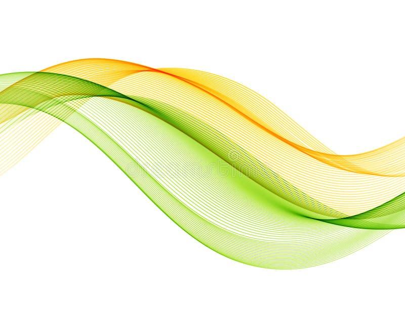 Αφηρημένο διανυσματικό υπόβαθρο με το κιτρινοπράσινο ομαλό κύμα χρώματος ελεύθερη απεικόνιση δικαιώματος