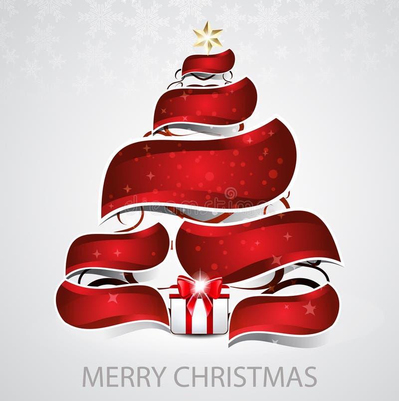 Αφηρημένο διανυσματικό υπόβαθρο χριστουγεννιάτικων δέντρων απεικόνιση αποθεμάτων