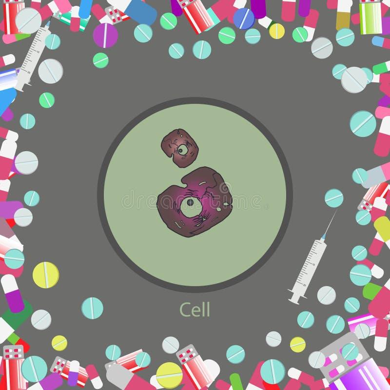 Αφηρημένο ιατρικό κύτταρο απεικόνιση αποθεμάτων