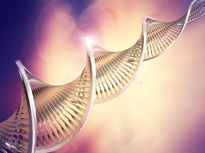 Αφηρημένο ιατρικό υπόβαθρο DNA ελεύθερη απεικόνιση δικαιώματος