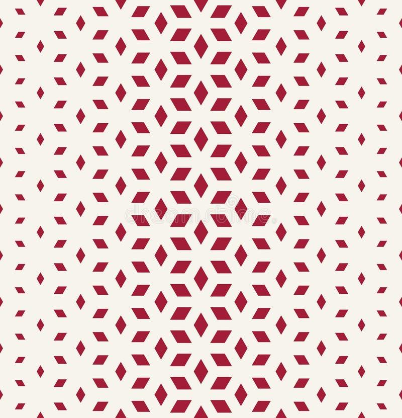 Αφηρημένο ιερό γεωμετρίας κόκκινο σχέδιο κύβων πλέγματος ημίτονο ελεύθερη απεικόνιση δικαιώματος