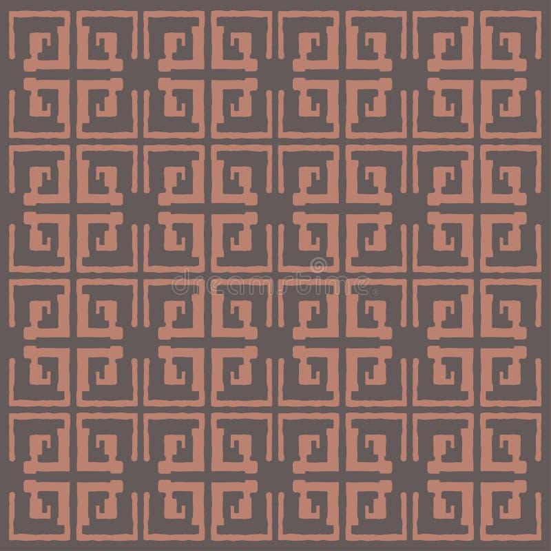Αφηρημένο ινδικό εθνικό άνευ ραφής σχέδιο τέχνης Λαός που επαναλαμβάνει τη σύσταση υποβάθρου Γεωμετρική τυπωμένη ύλη Σχέδιο υφάσμ διανυσματική απεικόνιση