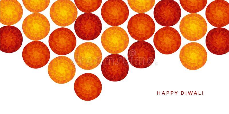Αφηρημένο ινδικό floral σχέδιο για το φεστιβάλ diwali απεικόνιση αποθεμάτων