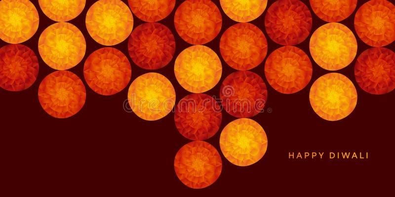 Αφηρημένο ινδικό floral σχέδιο για το φεστιβάλ diwali διανυσματική απεικόνιση