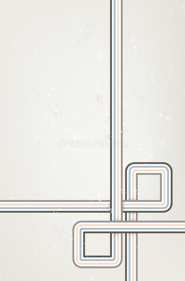 Αφηρημένο κάθετο βρώμικο υπόβαθρο με τα αναδρομικά λωρίδες ελεύθερη απεικόνιση δικαιώματος