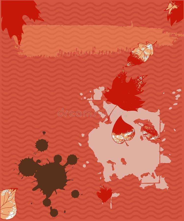 Αφηρημένο κάθετο ζωηρόχρωμο διανυσματικό υπόβαθρο grunge Σύσταση, αφηρημένες μορφές φύλλων, λεκέδες διανυσματική απεικόνιση
