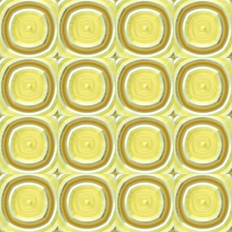 Αφηρημένο κίτρινο πλαστικό σχέδιο σχοινί απεικόνισης άνευ ρ&a διανυσματική απεικόνιση