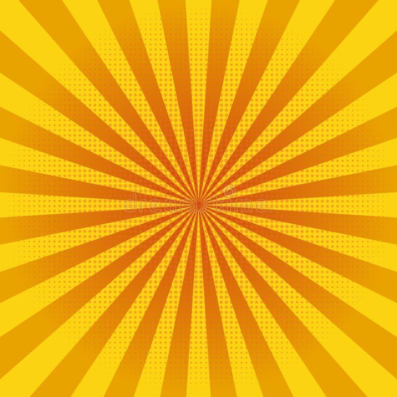 Αφηρημένο κίτρινο υπόβαθρο ακτίνων ήλιων περίληψη backgroung διάνυσμα απεικόνιση αποθεμάτων