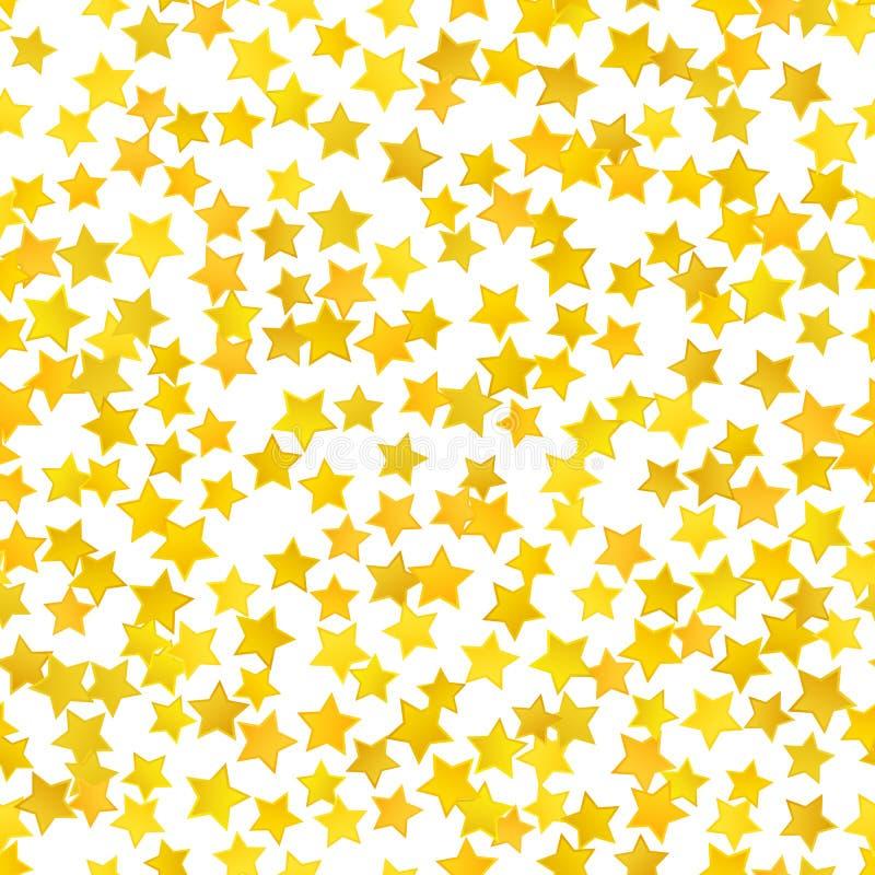 Αφηρημένο κίτρινο υπόβαθρο αστεριών επίσης corel σύρετε το διάνυσμα απεικόνισης ελεύθερη απεικόνιση δικαιώματος