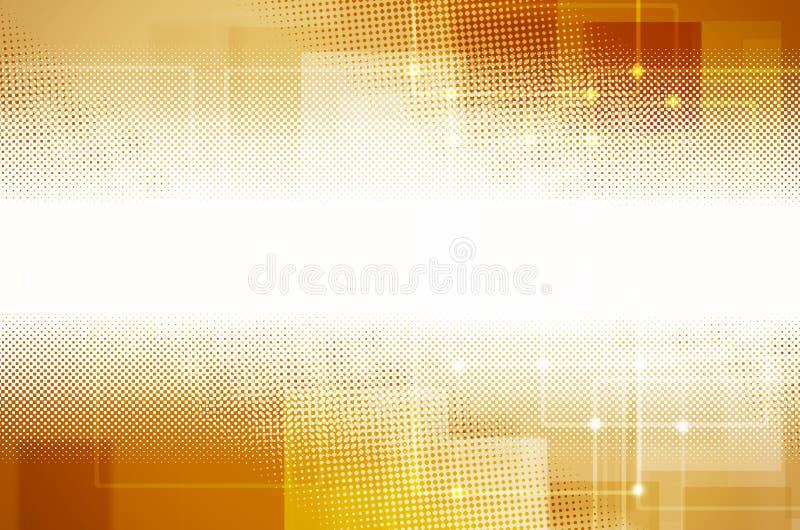 Αφηρημένο κίτρινο υπόβαθρο τεχνολογίας διανυσματική απεικόνιση