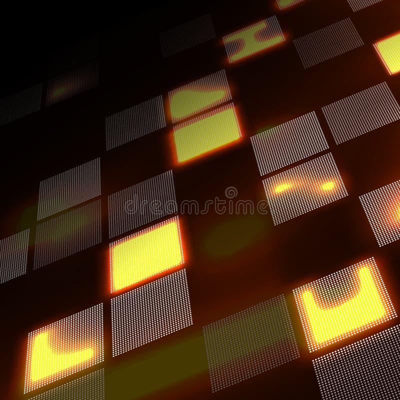 Αφηρημένο κίτρινο υπόβαθρο υψηλής τεχνολογίας στην προοπτική Φουτουριστικό ψηφιακό υπόβαθρο τεχνολογίας επίσης corel σύρετε το δι διανυσματική απεικόνιση