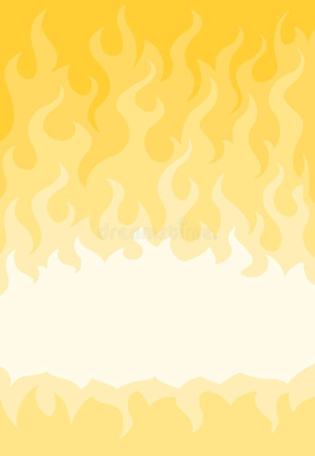 Αφηρημένο καίγοντας υπόβαθρο διανυσματική απεικόνιση
