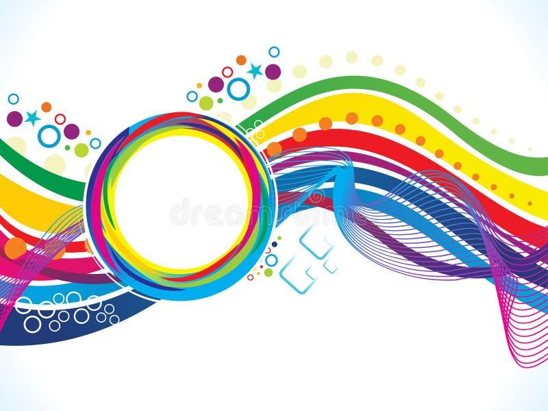 Αφηρημένο καλλιτεχνικό κύμα γραμμών ουράνιων τόξων ελεύθερη απεικόνιση δικαιώματος