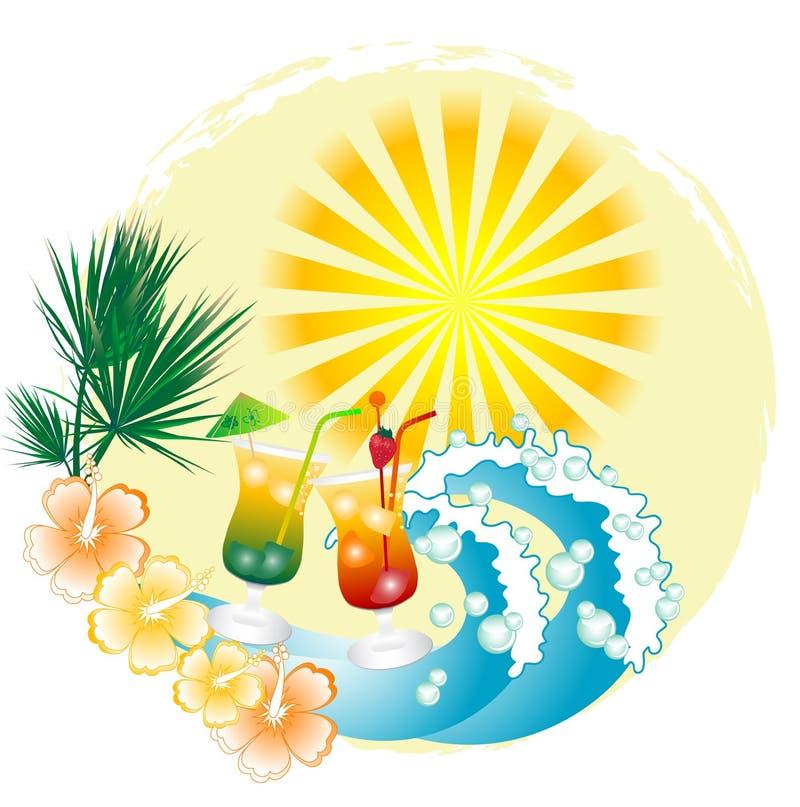 αφηρημένο καλοκαίρι ανασ& απεικόνιση αποθεμάτων