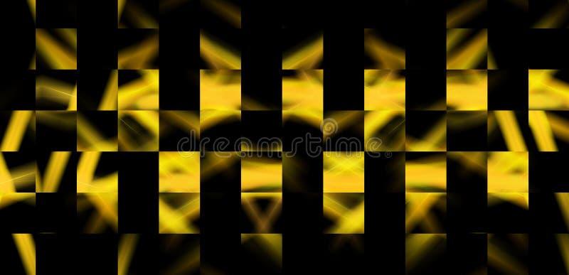 Αφηρημένο καμμένος διασχίζοντας χρυσό σχέδιο γραμμών Ριγωτό αντανακλαστικό υπόβαθρο για το σχέδιο Ιστού διανυσματική απεικόνιση
