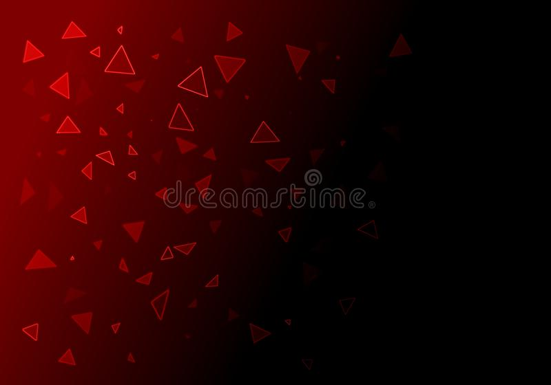 Αφηρημένο καμμένος επιπλέον υπόβαθρο τριγώνων γεωμετρίας κόκκινο απεικόνιση αποθεμάτων