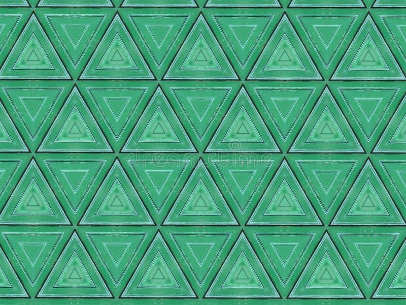 Αφηρημένο κατασκευασμένο πράσινο σχέδιο τριγώνων απεικόνιση αποθεμάτων