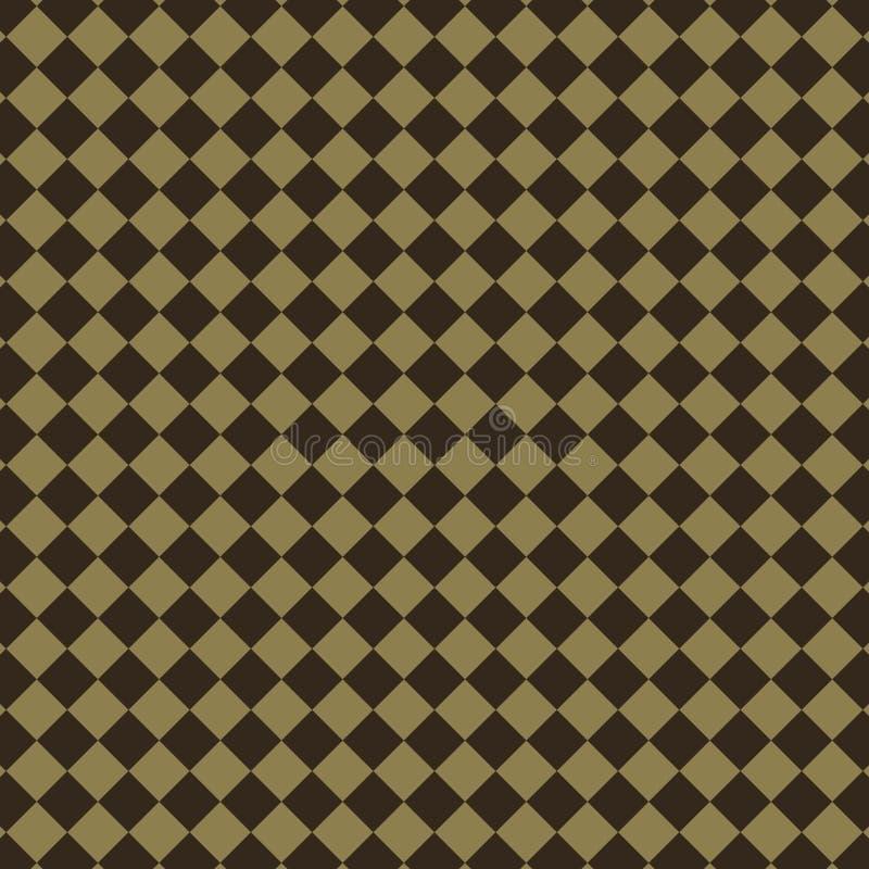 Αφηρημένο καφετί σχέδιο διαμαντιών διανυσματική απεικόνιση