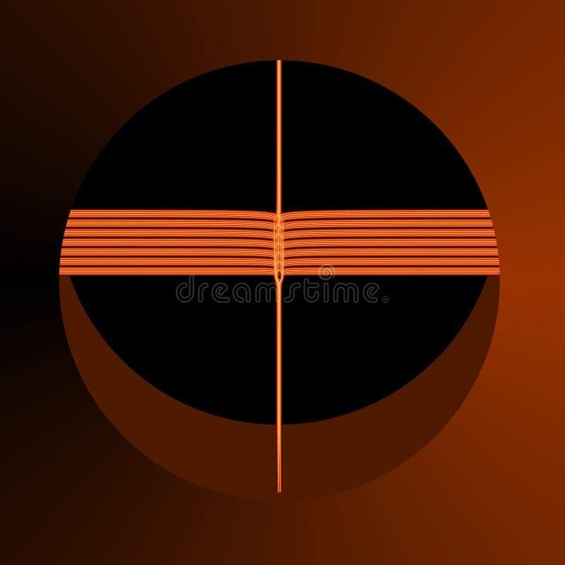 αφηρημένο καφετί fractal πορτοκά& απεικόνιση αποθεμάτων
