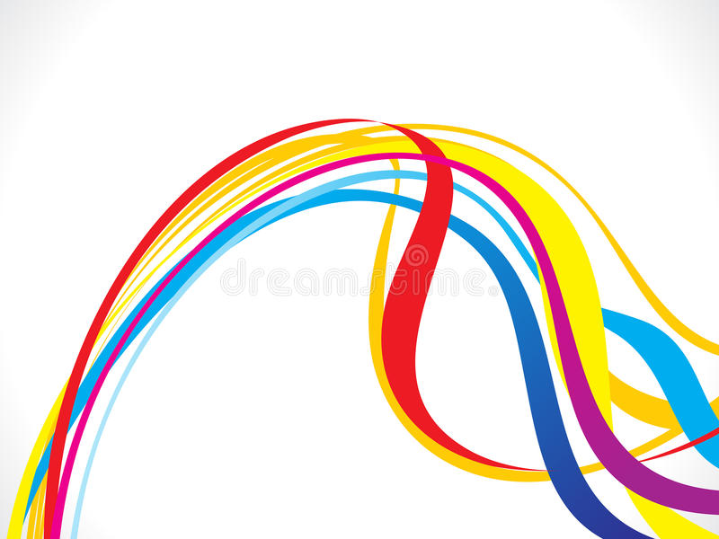 Αφηρημένο καλλιτεχνικό ζωηρόχρωμο υπόβαθρο κυμάτων γραμμών ελεύθερη απεικόνιση δικαιώματος