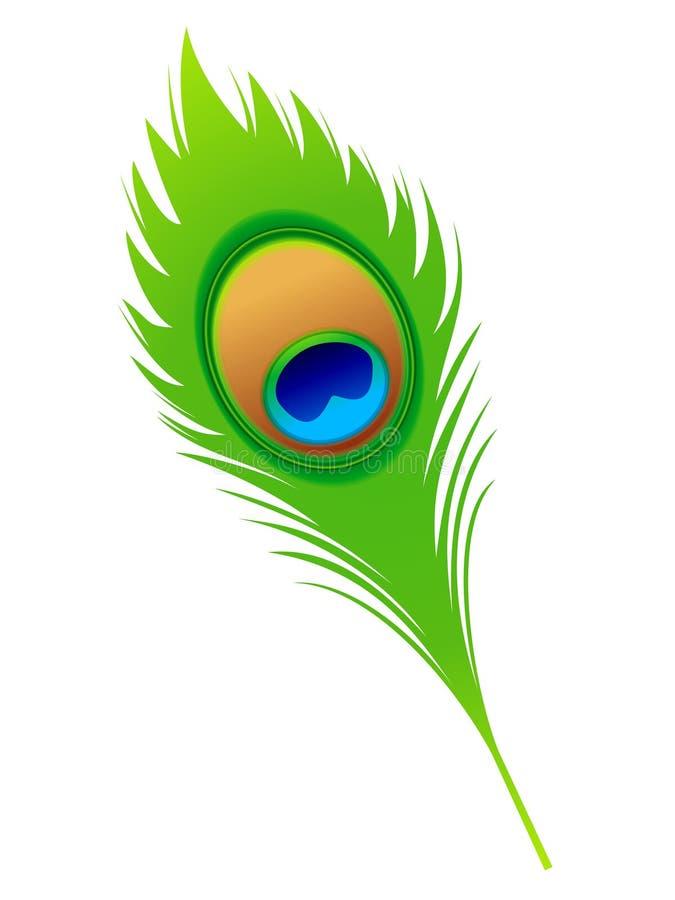 Αφηρημένο καλλιτεχνικό φτερό peacock απεικόνιση αποθεμάτων