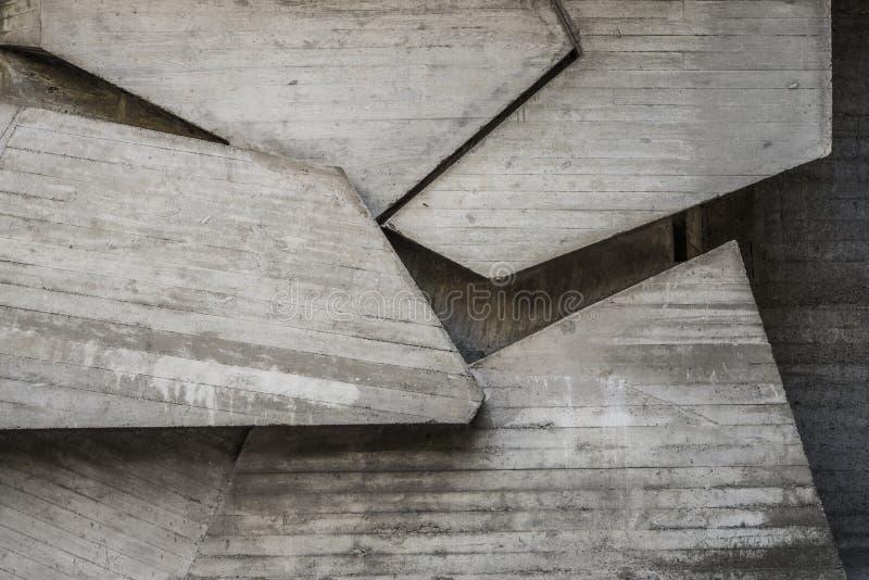 Αφηρημένο κενό συγκεκριμένο εσωτερικό με τις γεωμετρικές μορφές στοκ εικόνες με δικαίωμα ελεύθερης χρήσης