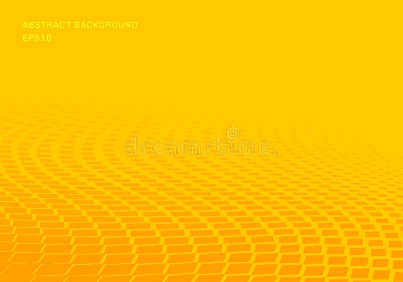 Αφηρημένο κλίσης κίτρινο τετραγώνων κυμάτων σχεδίων ημίτονο οριζόντιο ύφος τέχνης υποβάθρου λαϊκό Μπορείτε να χρησιμοποιήσετε για απεικόνιση αποθεμάτων
