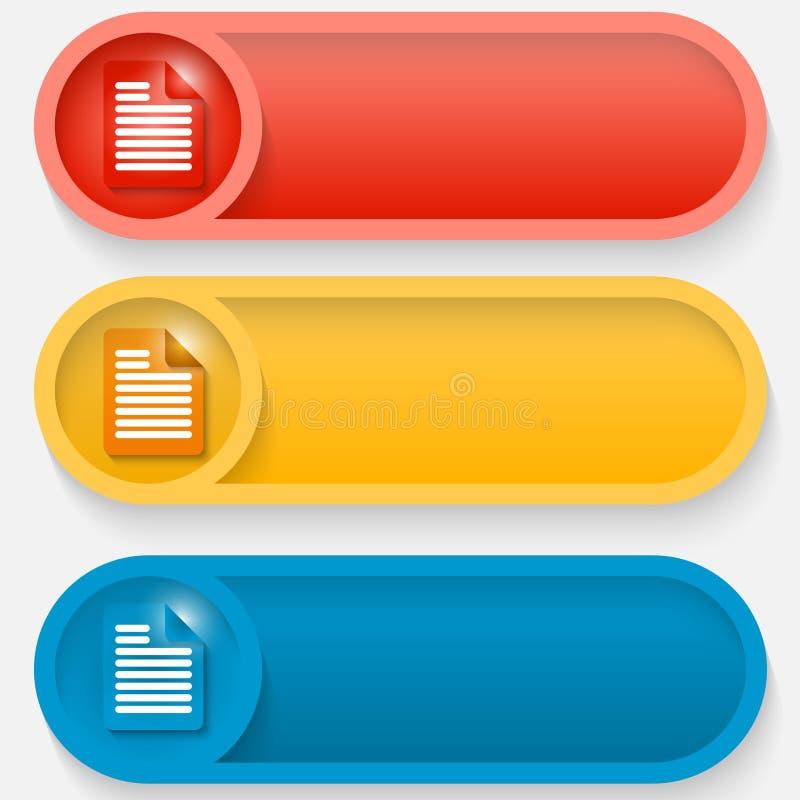 Αφηρημένο κουμπί με το εικονίδιο ελεύθερη απεικόνιση δικαιώματος