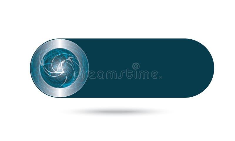 Αφηρημένο κουμπί διανυσματική απεικόνιση