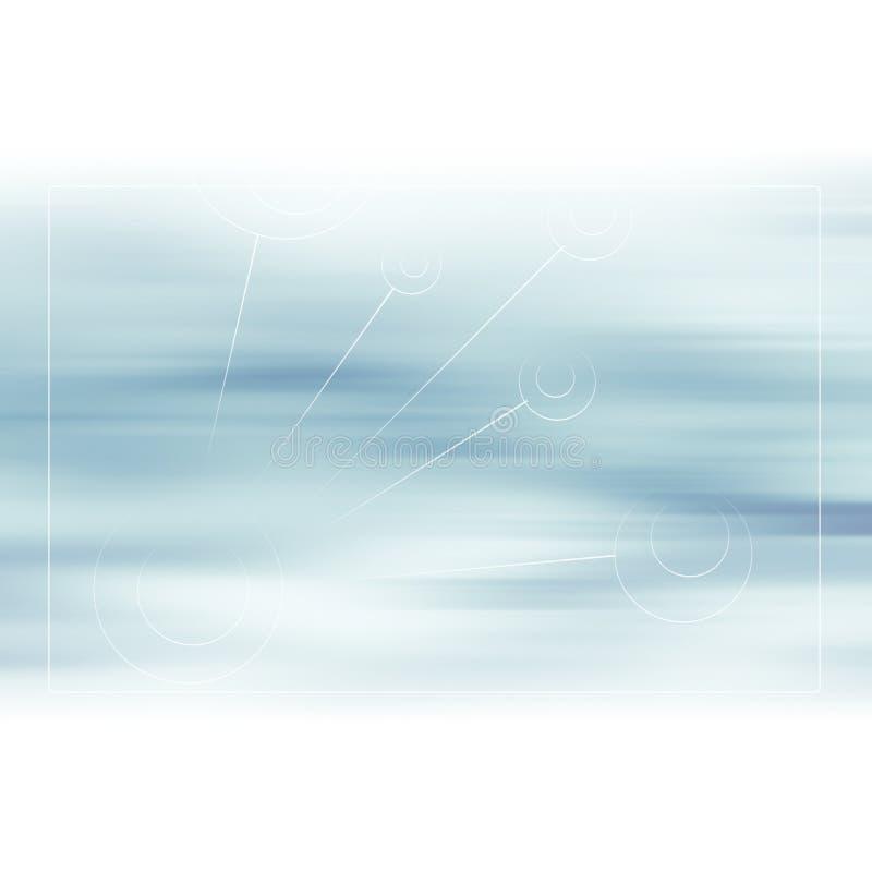 Αφηρημένο κρύο γκρίζο μπλε υπόβαθρο με τη θαμπάδα κινήσεων ελεύθερη απεικόνιση δικαιώματος