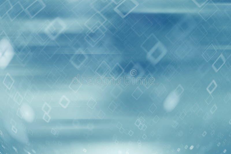 Αφηρημένο κρύο μπλε υπόβαθρο με τη θαμπάδα κινήσεων στοκ εικόνα