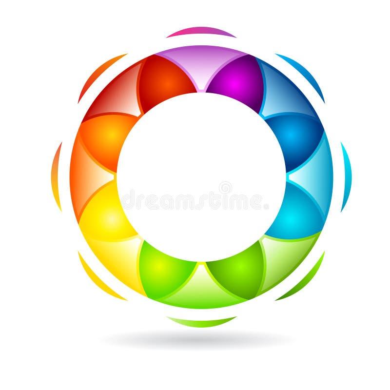 αφηρημένο κυκλικό σχέδιο διανυσματική απεικόνιση