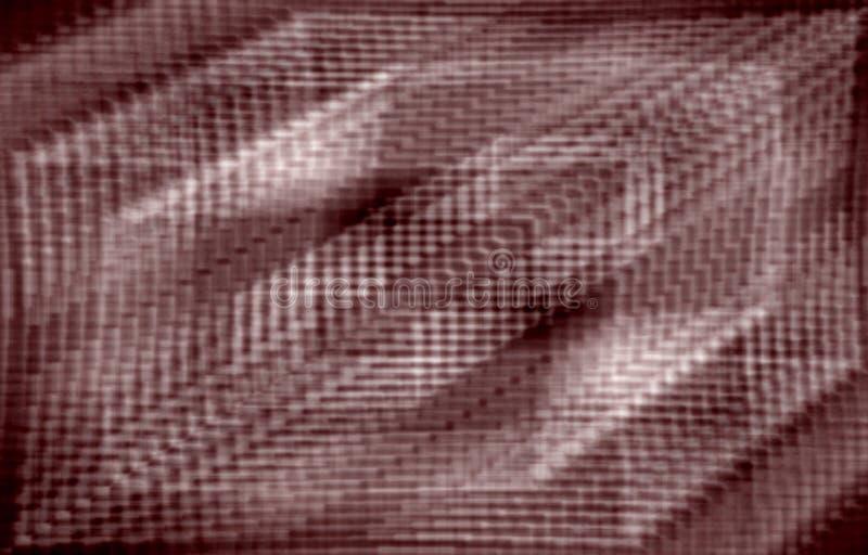 αφηρημένο κόκκινο ανασκόπησης Θολωμένο σχέδιο από το τετράγωνο, μορφές, λωρίδες ελεύθερη απεικόνιση δικαιώματος