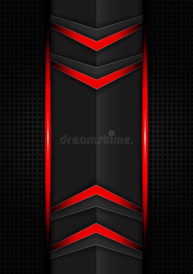 Αφηρημένο κόκκινο και μαύρο υπόβαθρο βελών τεχνολογίας αντίθεσης κλίσης χρώματος Διανυσματικό εταιρικό σχέδιο απεικόνισης ελεύθερη απεικόνιση δικαιώματος
