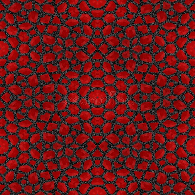 Αφηρημένο κόκκινο κεραμίδι ή υπόβαθρο πετρών γρανατών που γίνεται άνευ ραφής διανυσματική απεικόνιση