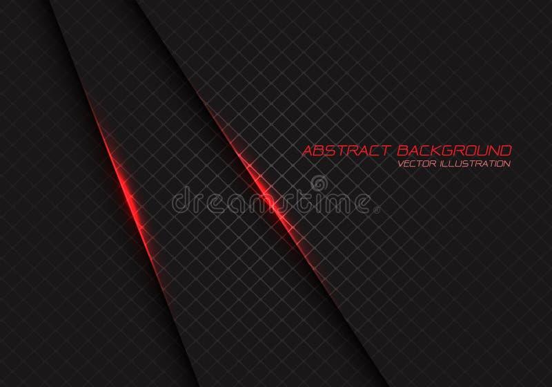 Αφηρημένο κόκκινο φως στο σκοτεινό γκρίζο τετραγωνικό πλέγμα με κειμένων σχεδίου το σύγχρονο διάνυσμα υποβάθρου πολυτέλειας φουτο ελεύθερη απεικόνιση δικαιώματος