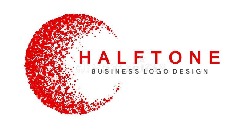 Αφηρημένο κόκκινο χρωματισμένο ημίτονο στοιχείο σχεδίου εικονιδίων λογότυπων για το λογότυπο επιχειρησιακής επιχείρησης στο άσπρο ελεύθερη απεικόνιση δικαιώματος